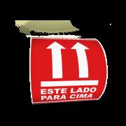 Etiqueta Selo Este Lado Para Cima 100x100 Frágil - 500 Etiquetas