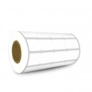 Etiquetas Adesivas 25x15 Mm BOPP FOSCO 4 Colunas Sem Espaçamento