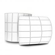 Etiquetas Adesivas 30x15 Mm Couchê 32 Metros 03 Colunas Com Espaçamento