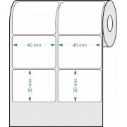 Etiquetas Adesivas 40x30 mm  Couchê 02 Colunas - 1 Rolo