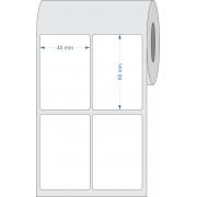 Etiquetas Adesivas 40x60 Mm 2 Colunas Couchê 32 Metros - 12 Rolos