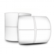 Etiquetas Adesivas 50x50 mm  Couchê 32 metros 02 Colunas
