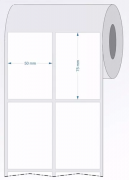 Etiquetas Adesivas 50x75 mm  BOPP 02 Colunas - 6 ROLOS