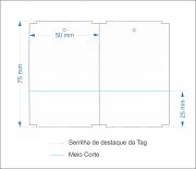 Etiquetas Adesivas Tag 50x75 Mm Couchê COM CANHOTO - 10 Rolos + 4 Ribbons Cera 110x90