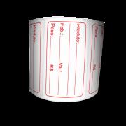 Etiquetas Prazo de Validade BOPP - Letras Vermelhas - 12 Milheiros