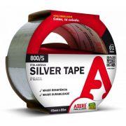 Fita Adesiva Multiuso Silver Tape 800s Prata 45x5m Adere - 5 Unid