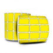 Etiquetas Adesivas Couche 33x22 32 mts Amarela 12 rolos + 6 Ribbons