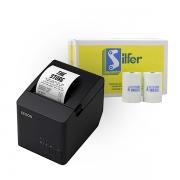 Kit Impressora Epson TM T20X + Bobina ECF 80x40mm