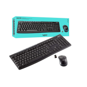 Conjunto Teclado + Mouse Logitech Wireless Mk270