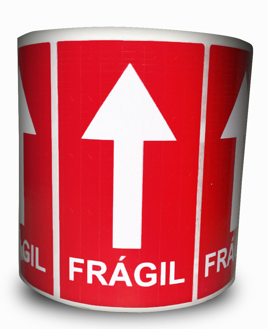 Etiquetas Adesivas Selo Frágil Seta Milheiro