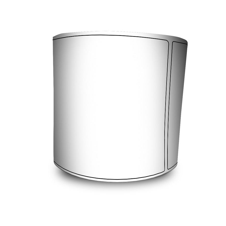 Etiqueta Bopp Transparente Contínuo 100mmx32M