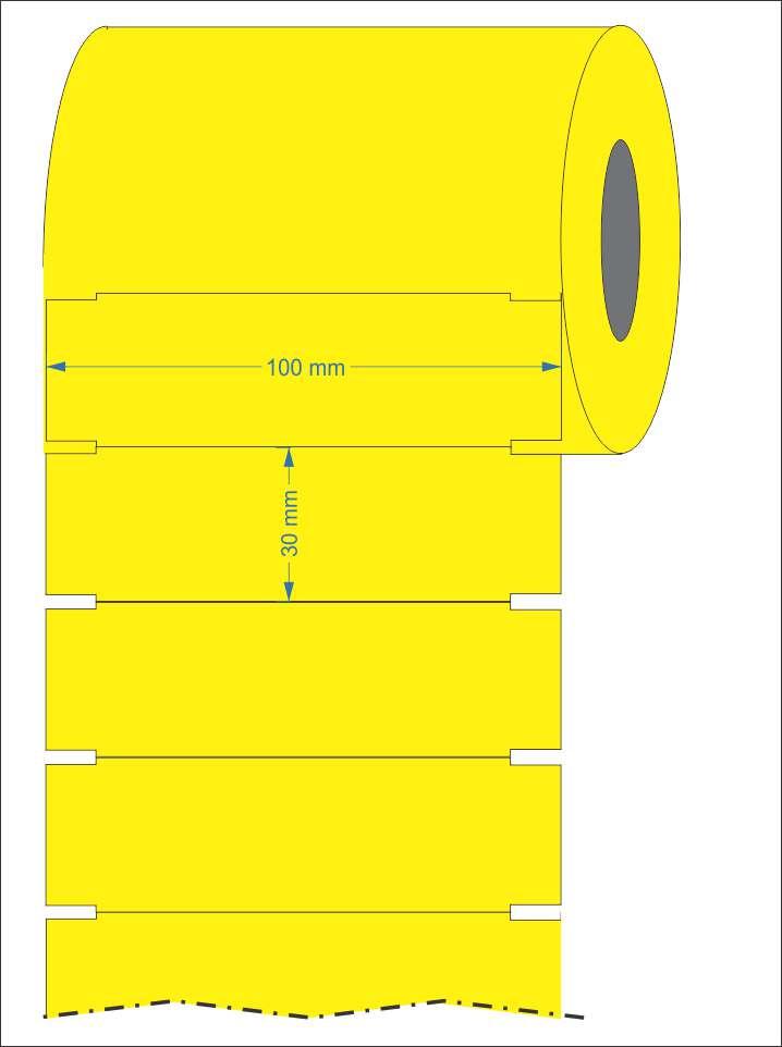 Etiqueta Gondola 100x30 32 Metros