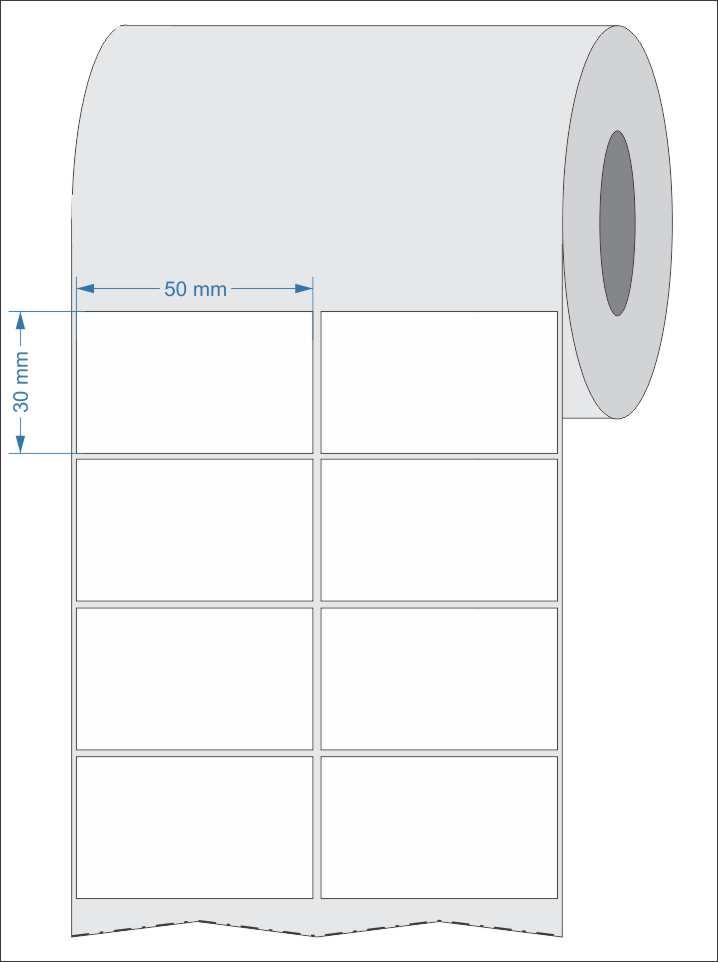 Etiquetas Adesivas para Laboratório 50x30 Mm Couchê 2 Colunas 32 Metros