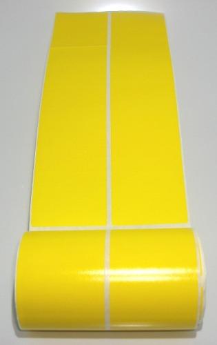 Etiquetas Adesivas Amarela 50x112 Mm Couche 2 Colunas
