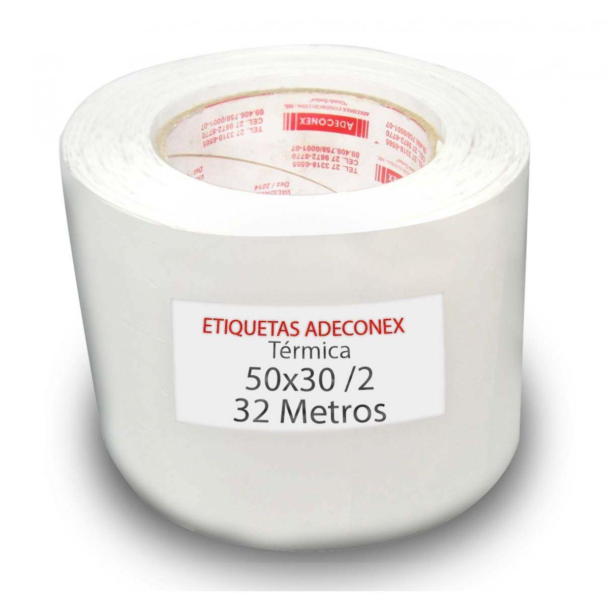 Etiquetas para Laboratório 50x30 Mm Térmica 2 Colunas 32 Metros