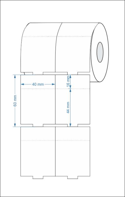 Etiqueta Tag 40x60 Mm Couchê 32 Metros Não Adesiva