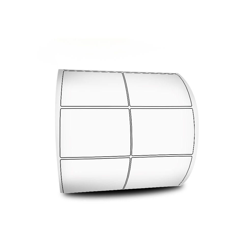 5 Rolos Etiqueta Adesiva 50x22 Couchê 2 Colunas Com Cola Removível