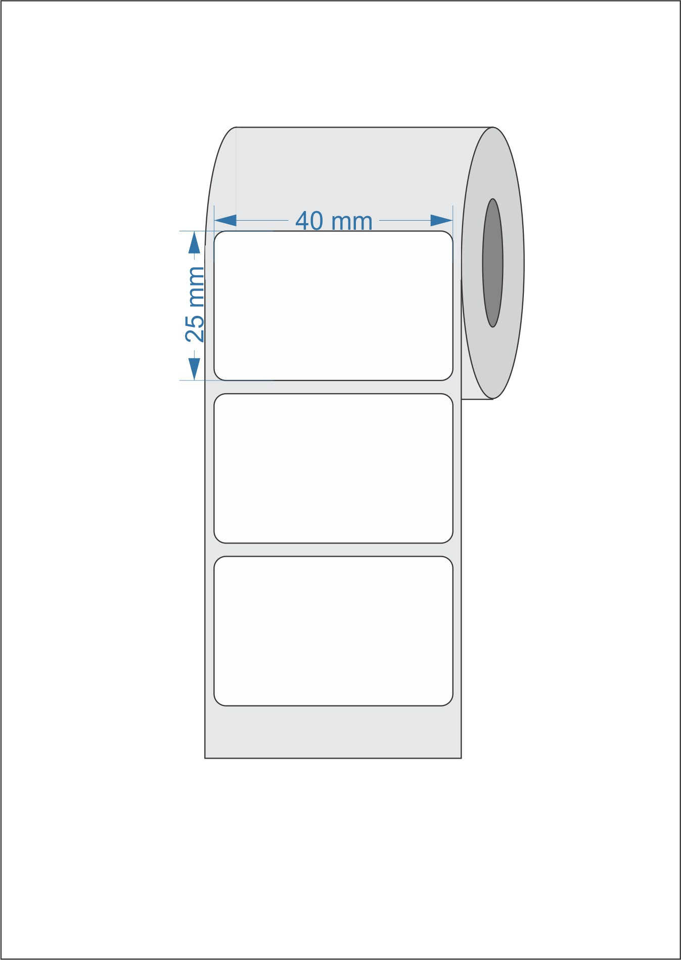 60 Rolos Etiquetas Adesivas 40x25 mm  Térmico 01 Coluna Mercado Envios FULL