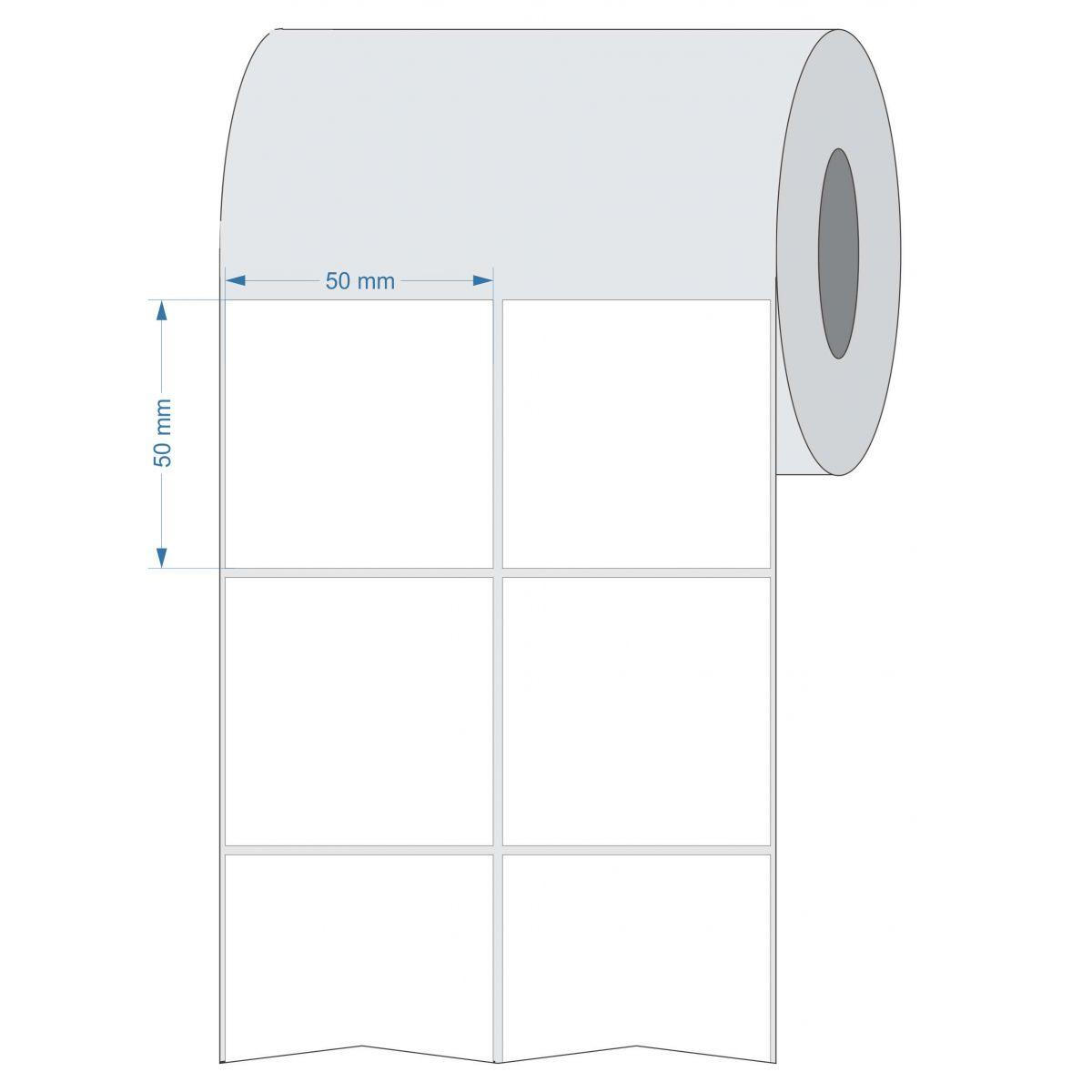 Etiquetas Adesivas 50x50 mm  Termica 32 metros 02 Colunas