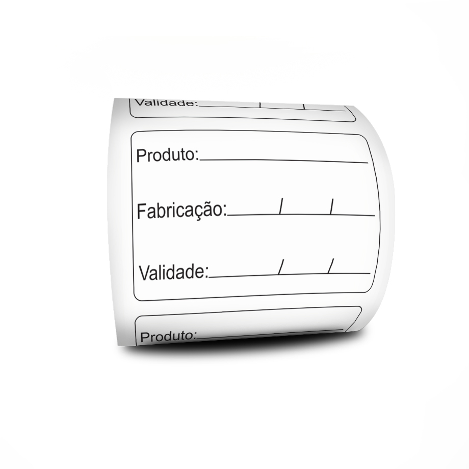 Etiqueta BOPP Adesiva 60x40 mm Prazo De Validade 3 Linhas Milheiro