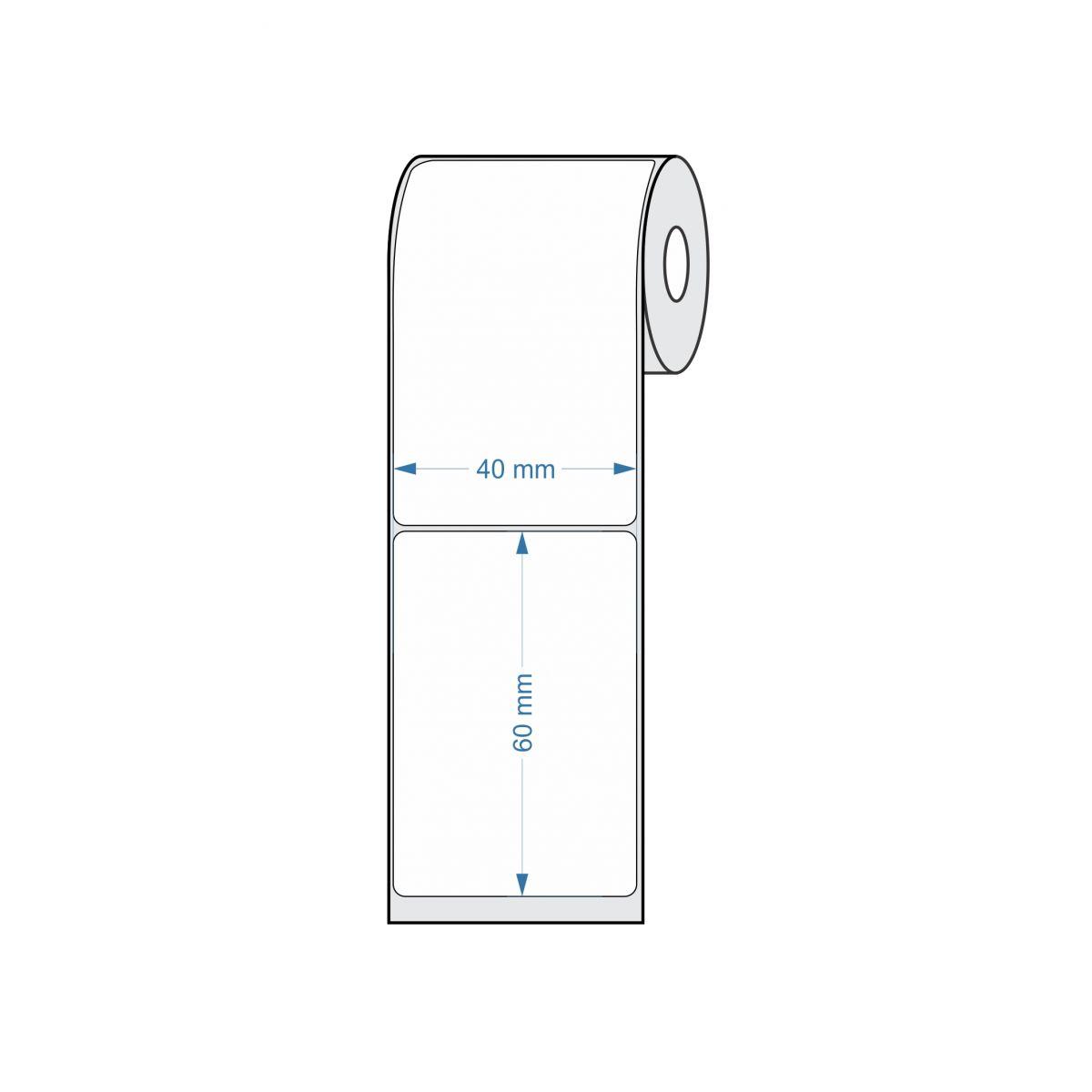 Etiquetas Adesivas para Balança 40x60 25 metros