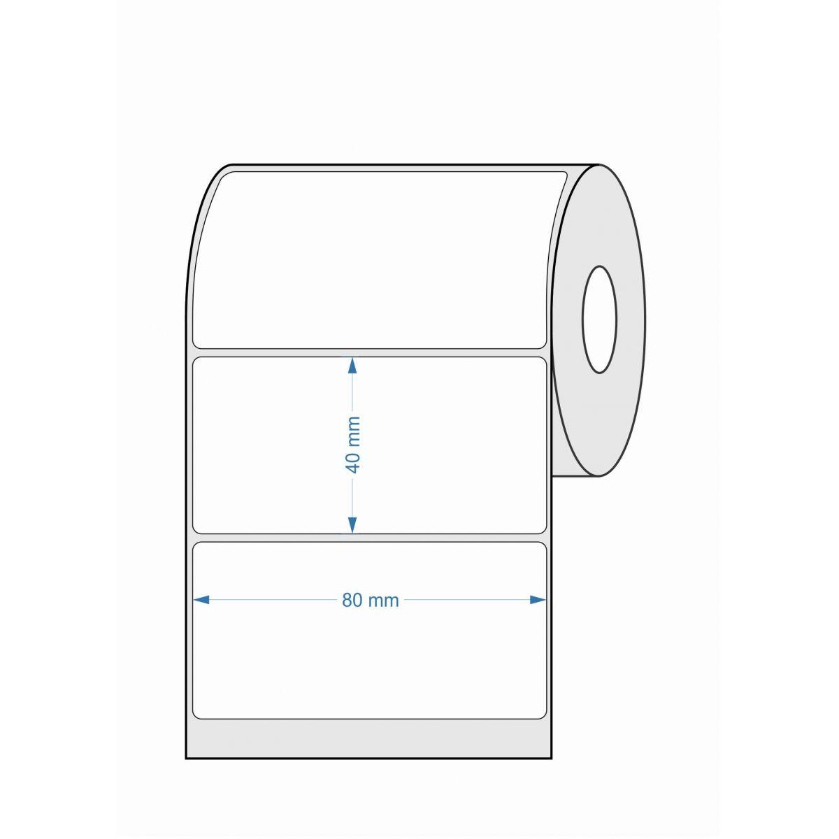Etiquetas Adesivas 80x40 BOPP 32 Metros