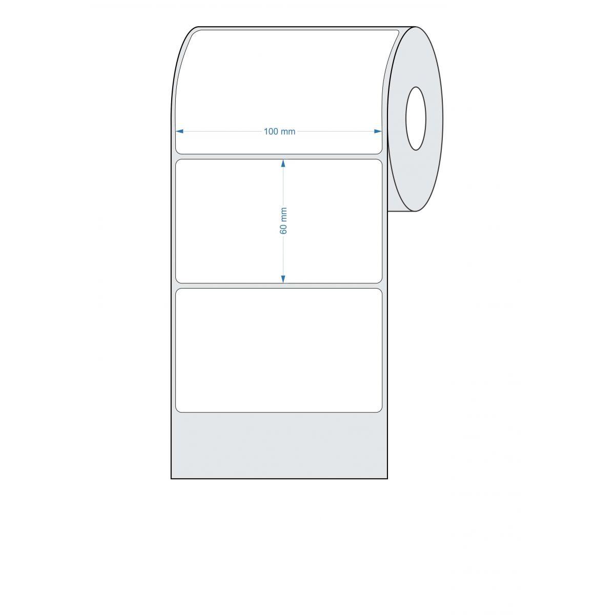 Etiquetas Adesivas 100x60 mm Térmica 32 Metros