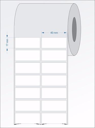 Etiquetas Adesivas  40x17 Mm Couchê 2 Colunas 32 Metros