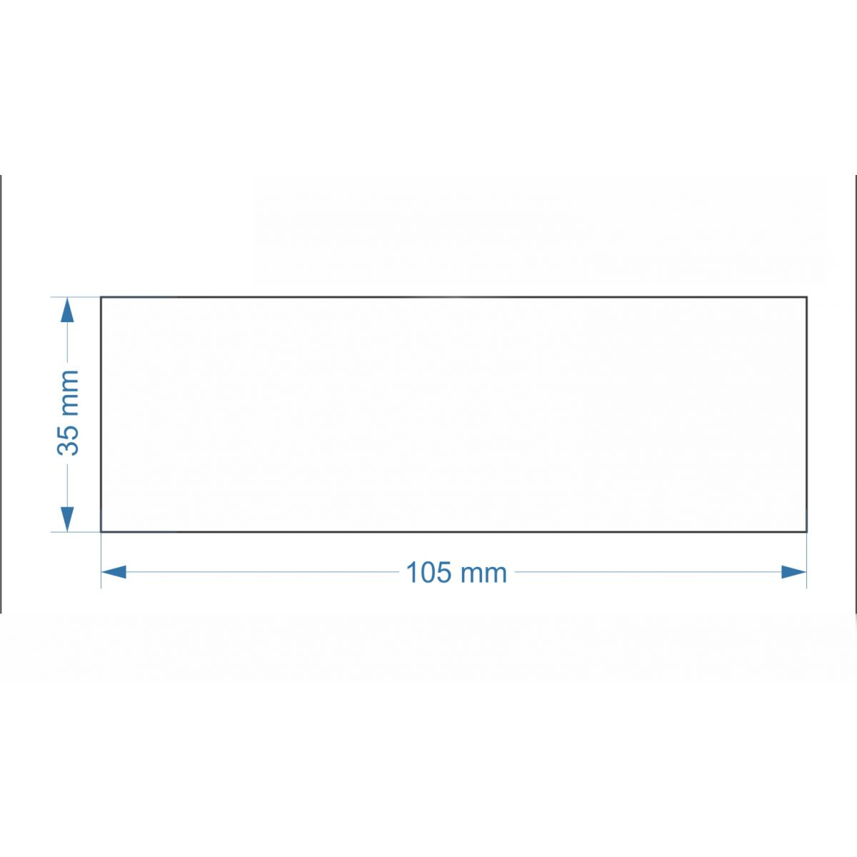Etiquetas Adesivas 105x35 mm Couchê 32 metros