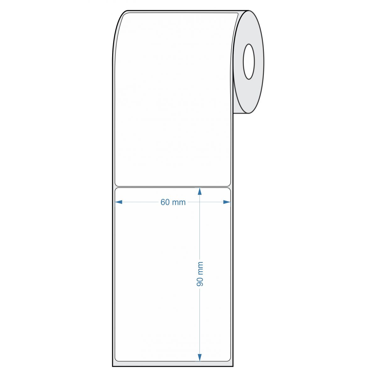 Etiquetas para Balança 60x90 25 metros