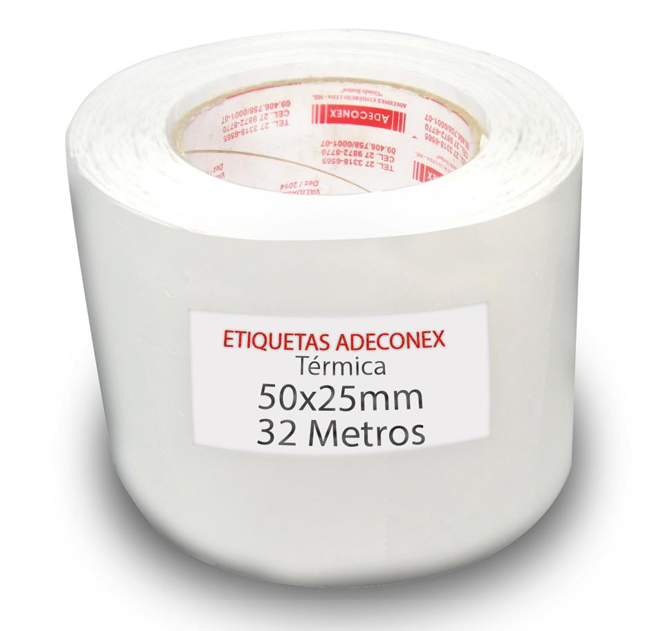 Etiquetas para Laboratório 50x25 Mm 1 Coluna Térmica 32 Metros