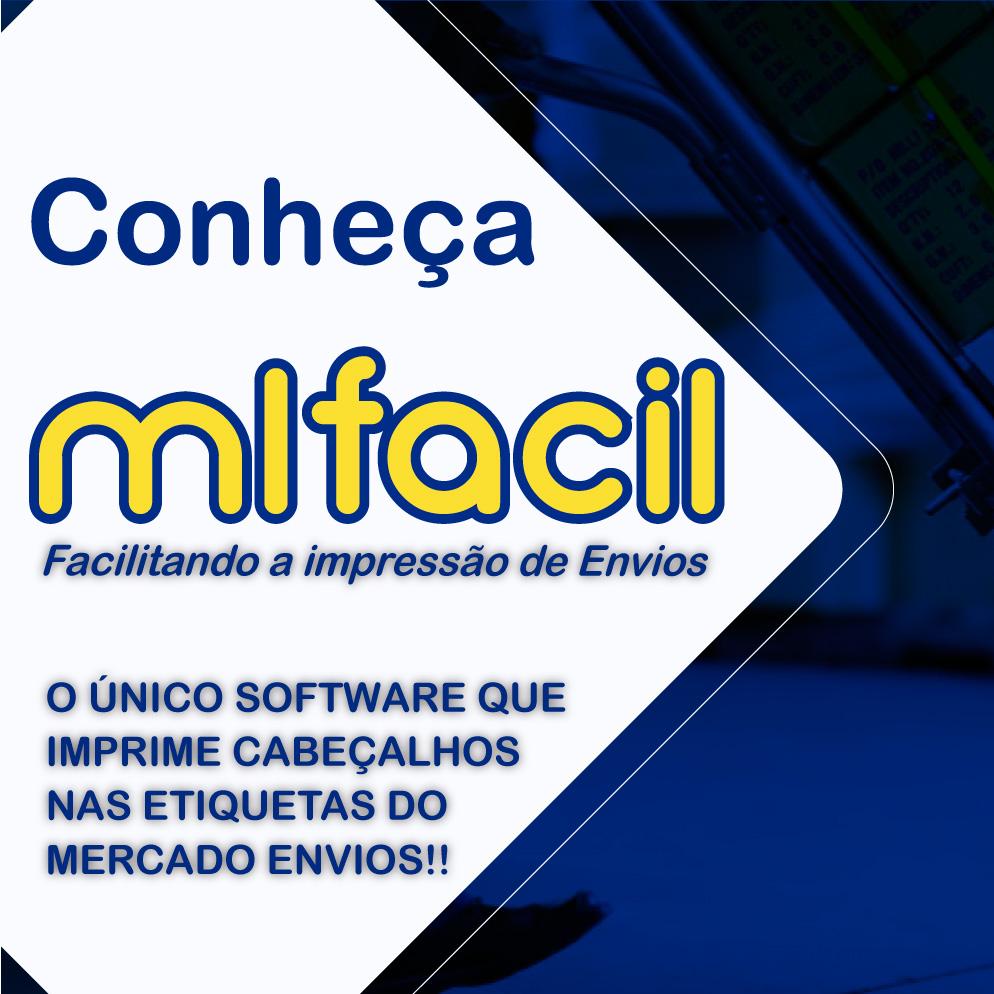 Etiquetas Adesivas Mercado Livre com cabeçalho 100x175 Mm Térmica
