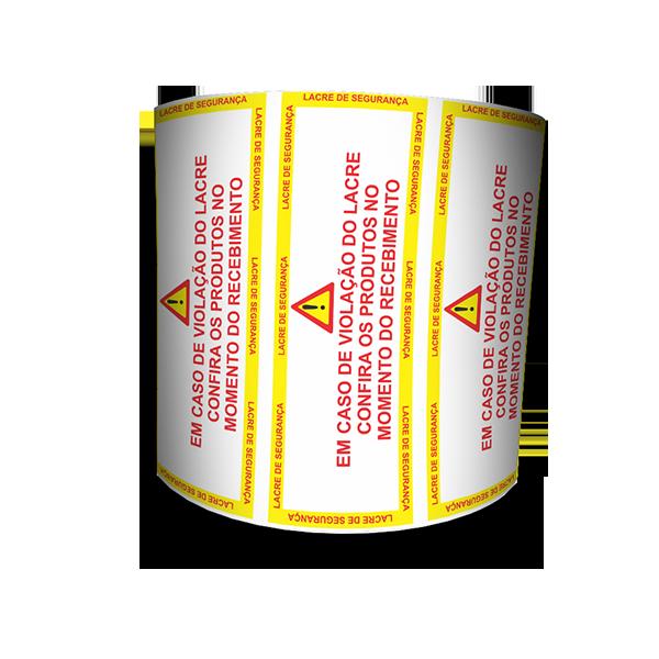 Lacre De Segurança Destrutivo 105x35 mm Milheiro