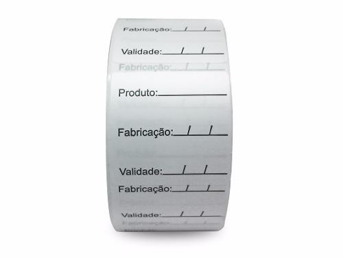 Etiquetas Adesivas BOPP - Prazo de Validade - 40x40 - Milheiro