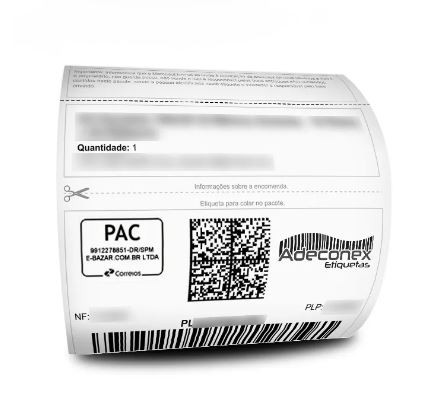 Etiquetas SIGEP Mercado Livre com cabeçalho 100x175 Mm Couchê