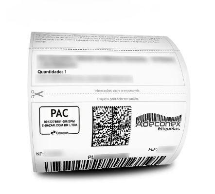 Etiquetas Adesivas Mercado Livre com cabeçalho 100x175 Mm Couchê – Milheiro - 4 Rolos