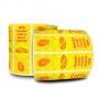Lacre para Delivery de Pizza - 100x30 mm - 6 Rolos - Milheiro