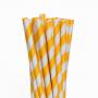 Canudo De Papel Biodegradavel Amarelo 6mm - 100 Und