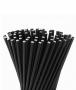 Canudo De Papel Biodegradavel Preto 8mm - 100 Und
