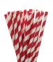 Canudo De Papel Biodegradavel Vermelho Listrado 8mm - 200 Und