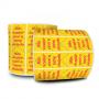 Lacre para Delivery - Lacre De Segurança Amarelo 100x30 mm Milheiro
