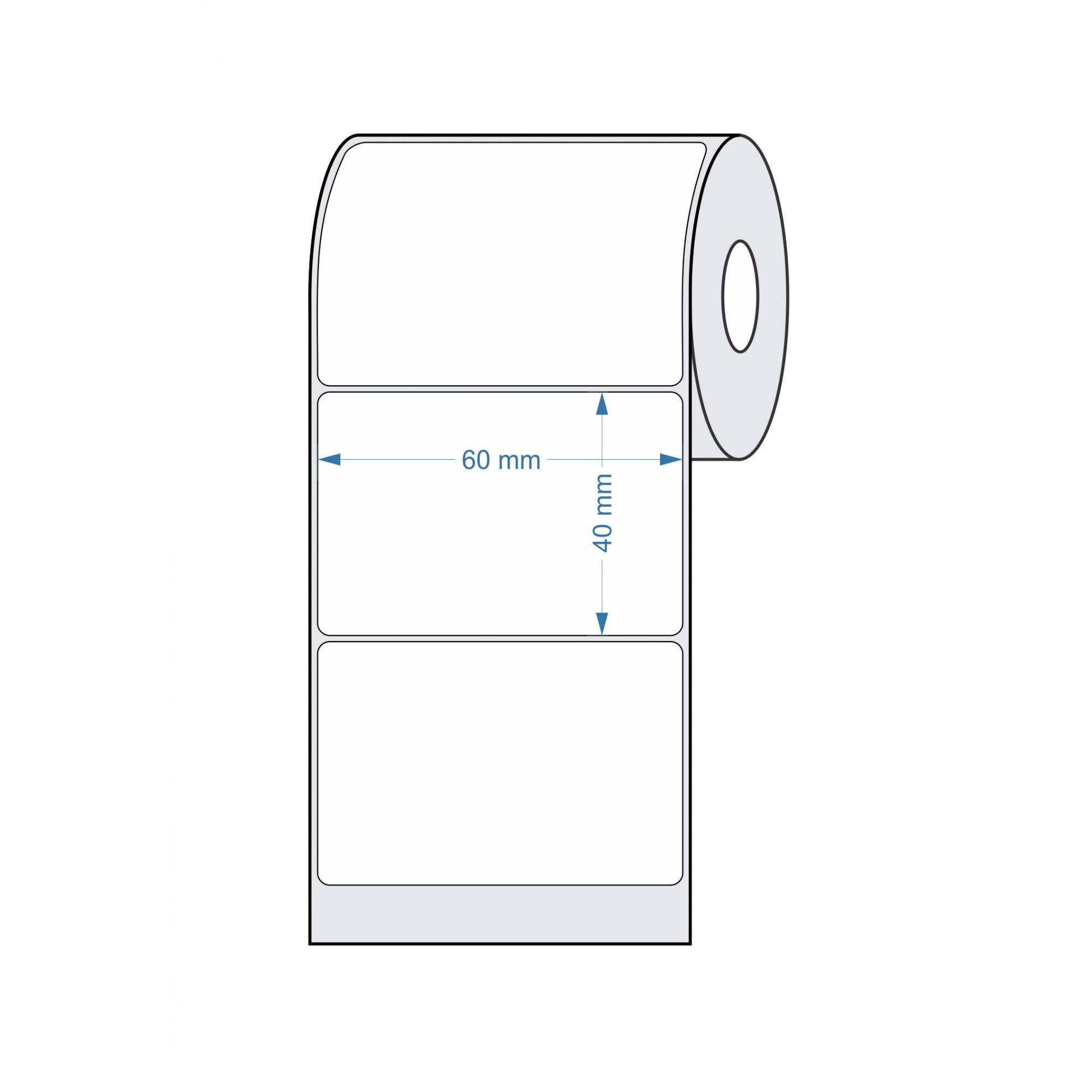 Caixa com 80 Rolos - Etiquetas para Balança 60x40 25 metros