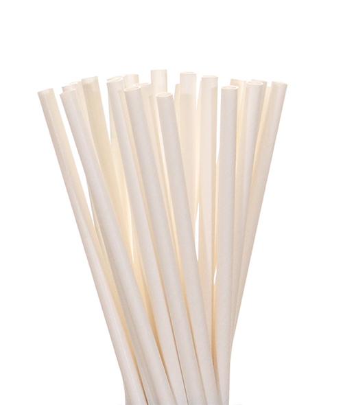 Canudo De Papel Biodegradavel Branco 8mm - 200 Und