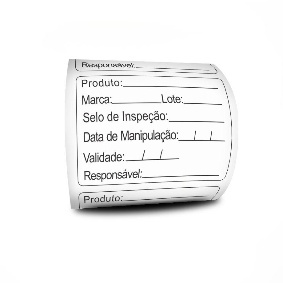 Etiquetas Adesivas BOPP Prazo De Validade 6 Linhas 60x40 mm - 5 Rolos