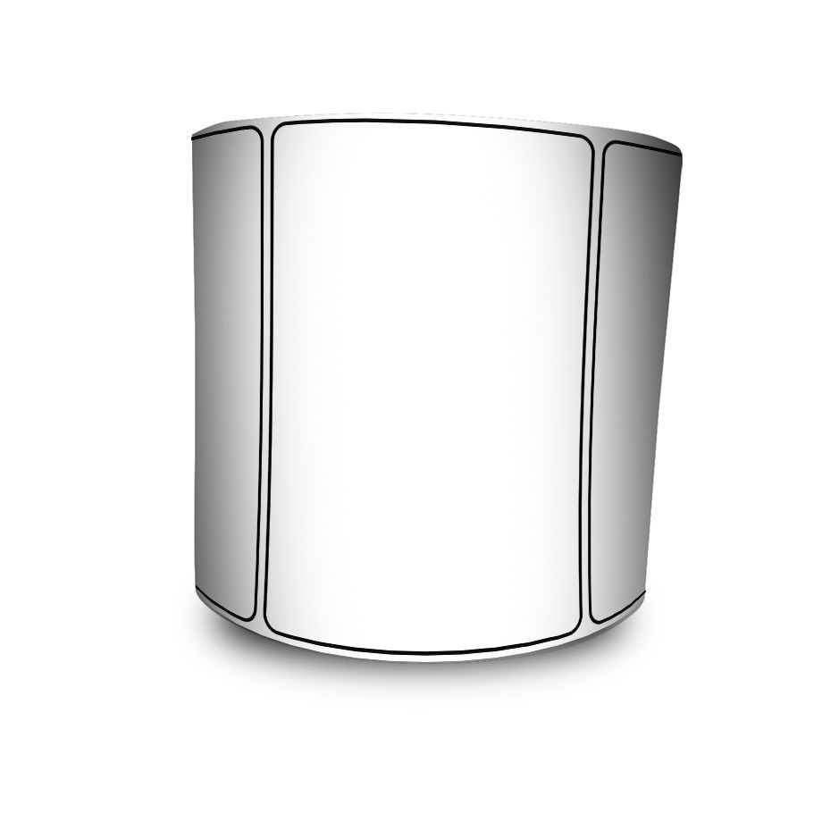 Etiquetas Adesivas Bopp Fosco Branca 60x40 mm Milheiro - 100 Rolos