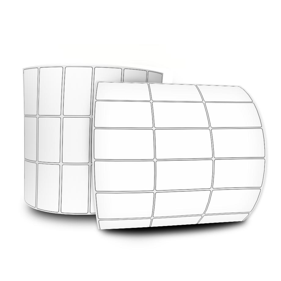 Etiquetas Adesivas 30x15 Mm Térmica 32 Metros 3 Colunas C/ Espaçamento