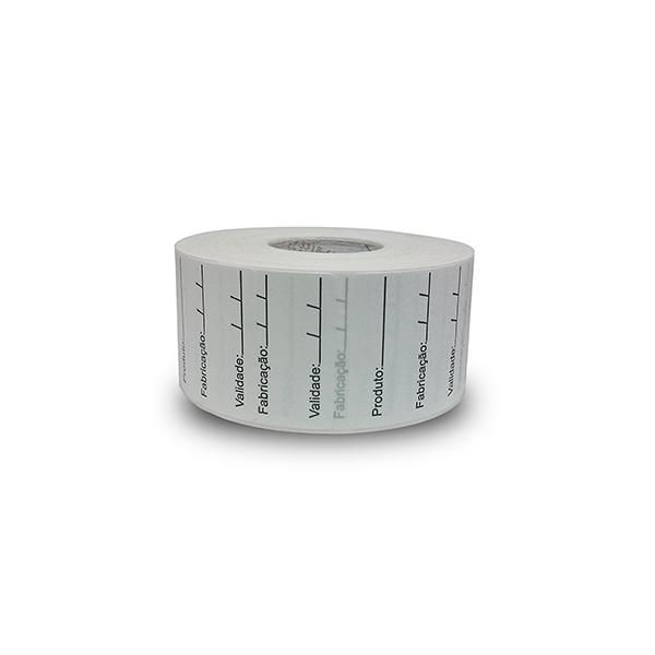 Etiqueta Adesiva Bopp 40x40 Validade - 10 Milheiros