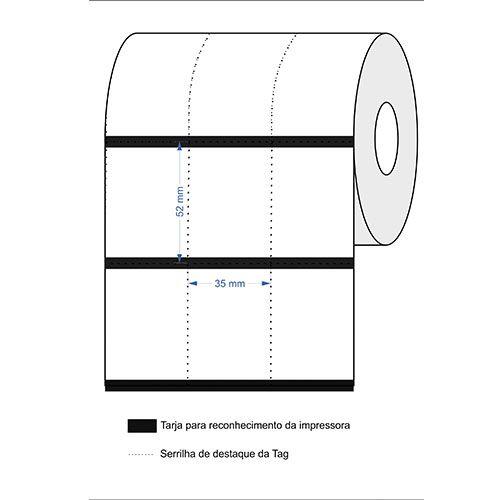 Etiqueta Nylon Para Composição De Roupa - 35x49 - 1 Rolo