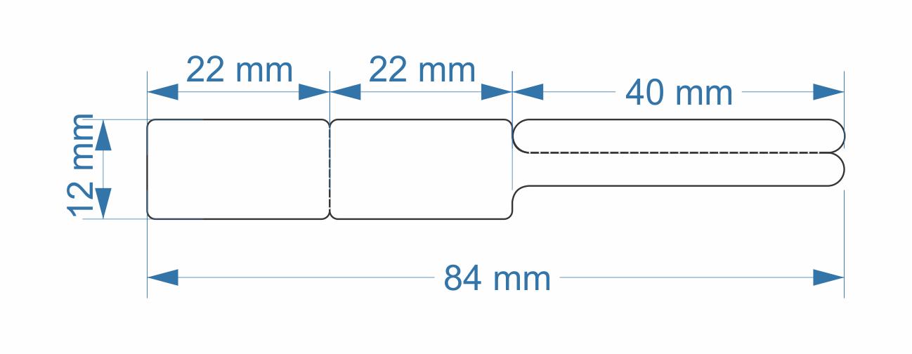 Etiqueta para Joias e Otica Bopp 84x12mm 2000un
