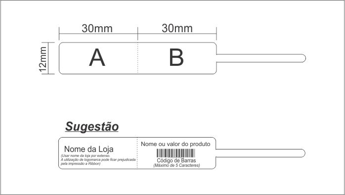 Etiqueta para Joias e Otica Bopp 95mx12mm 1000un